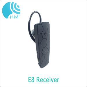 E8 Tour Guide Audio System Bluetooth Earphones Weight 20g Transmitter And Receiver
