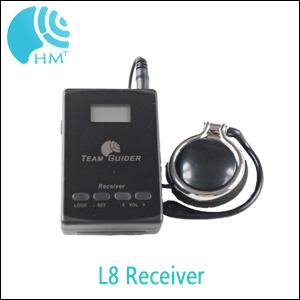 Long Distance L8 Museum Audio Guide System Transmitter And Receiver With AAA Battery