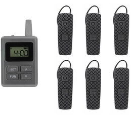 China E8 Ear - Hanging Wireless Horse Instruction System Tour Guide System With Transmitter And Receiver supplier