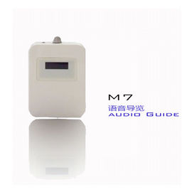 White Device M7 Auto Induction Museum Audio Guides For Museums Radio Guide System