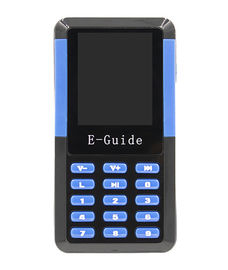 Portable Travel Tour Guide Audio Systems Device Blue & Black For Visitor Reception