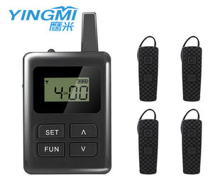China black color Portable Tour Guide System communication system for travel group distributor